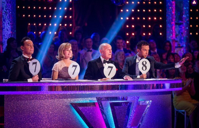 Programme Name: Strictly Come Dancing 2015 - TX: 25/09/2015 - Episode: n/a (No. n/a) - Picture Shows: ++LIVE SHOW++ Craig Revel Horwood, Darcey Bussell, Len Goodman, Bruno Tonioli - (C) BBC - Photographer: Guy Levy