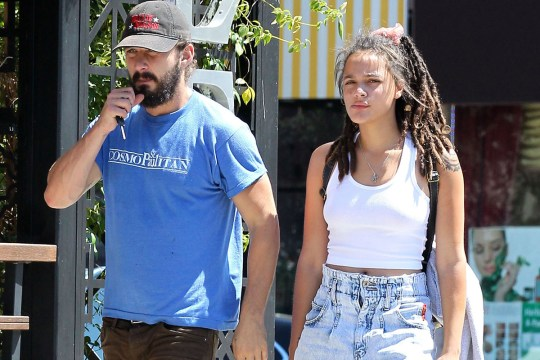 Shia LaBoeuf with girlfriend Sasha Lane