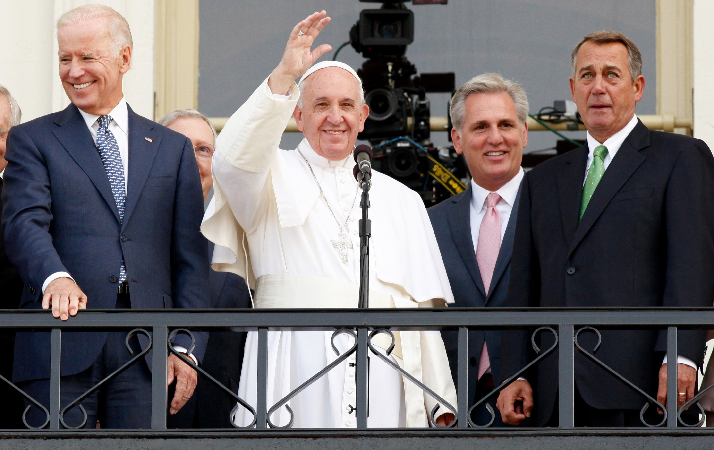 Pope Francis reduces US House Speaker to tears during address to Congress