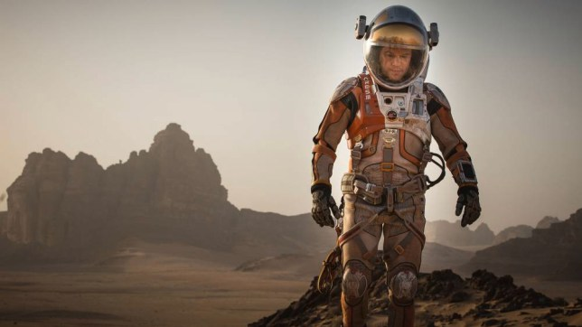 """This photo provided by courtesy of the Toronto International Film Festival and Twentieth Century Fox shows Matt Damon as Mark Watney a scene from the film, """"The Martian,"""" directed by Ridley Scott. As the largest launching pad to the fall movie season, the Toronto Film Festival which kicks off on Thursday, Sept. 10, 2015, is a regular home to the biopics and other true-life tales that usually populate awards season. ìThe Martian,î starring Damon as an astronaut left for dead on Mars, gives Toronto its strongest dose of sci-fi spectacle. (Aidan Monaghan/Toronto International Film Festival/Twentieth Century Fox via AP)"""