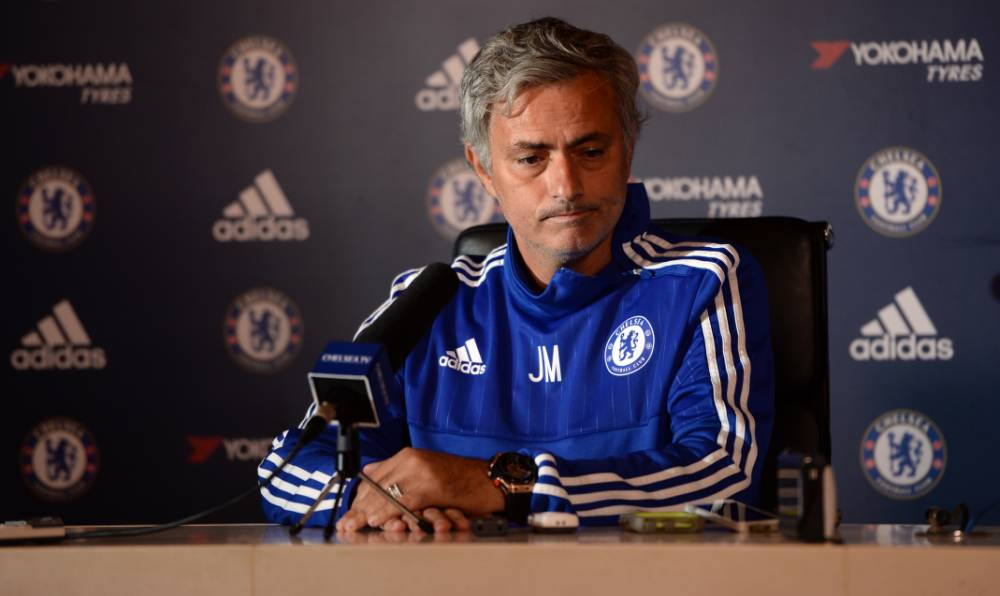 Football - Chelsea - Jose Mourinho Press Conference - Chelsea Training Ground - 11/9/15 Chelsea manager Jose Mourinho during the press conference Action Images via Reuters / Tony O'Brien Livepic EDITORIAL USE ONLY.