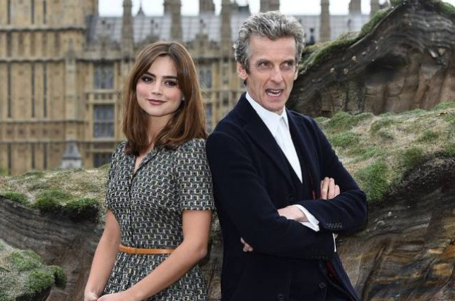 """Embargoed to 0001 Tuesday September 15 File photo dated 22/08/14 of Doctor Who stars Peter Capaldi and Jenna Coleman, as Capaldi did not want a romance between his character and Coleman's Clara, his assistant, in the new series. PRESS ASSOCIATION Photo. Issue date: Tuesday September 15, 2015. """"It would have been completely creepy,"""" he told the Radio Times. """"It's fine if you have handsome young men like Matt (Smith) and David Tennant, but as a father I felt it would be inappropriate."""" See PA story SHOWBIZ Capaldi. Photo credit should read: Ian West/PA Wire"""