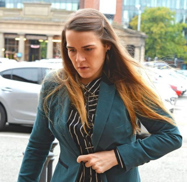 File photo dated 09/09/15 of Gayle Newland who has been convicted at Chester Crown Court of three counts of sexual assault after impersonating a man to dupe her friend into having sex. PRESS ASSOCIATION Photo. Issue date: Tuesday September 15, 2015. See PA story COURTS Blindfold. Photo credit should read: Andy Kelvin/PA Wire