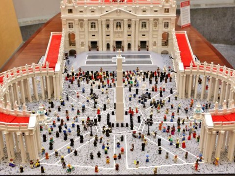 Somebody built an elaborate version of the Vatican out of Lego