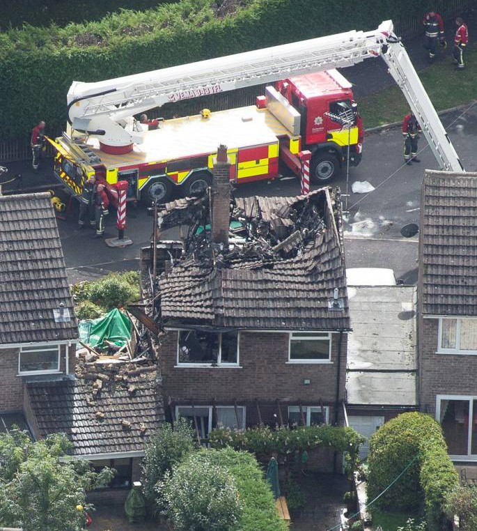 Derbyshire gas explosion being treated as murder suicide