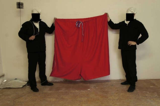 A Czech art group has replaced the presidential flag over the Prague Castle with a pair of huge red pants