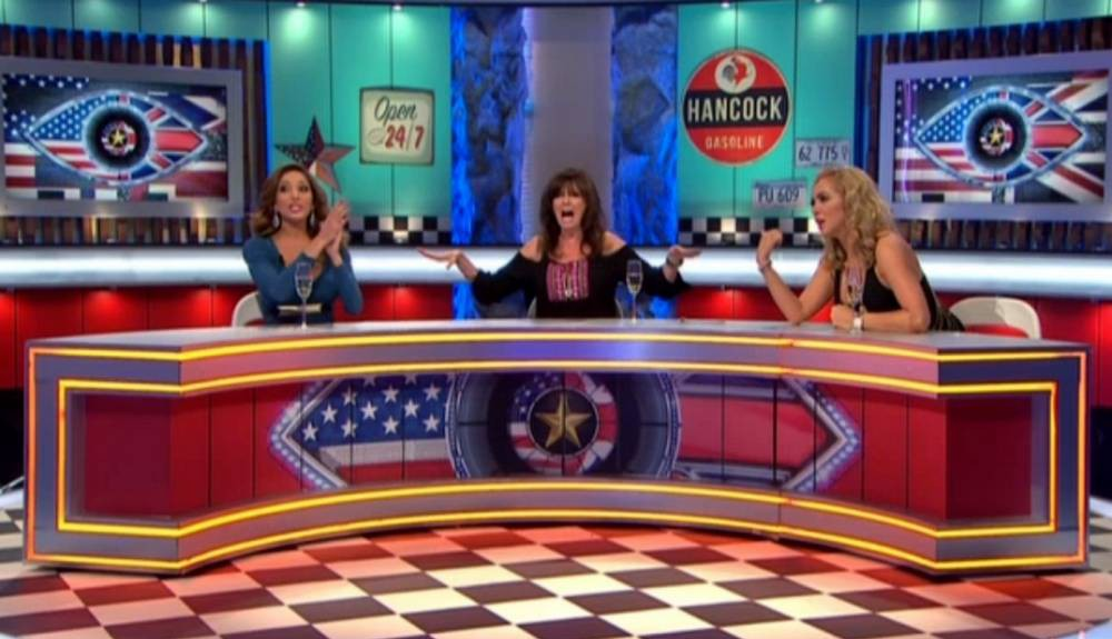 Editorial Use Only Mandatory Credit: Photo by REX Shutterstock (5151931j) Vicki Michelle tries to calm Farrah Abraham and Aisleyne Horgan-Wallace down 'Celebrity Big Brother: UK vs USA Bit On The Side' TV show, Elstree Studios, Hertfordshire, Britain - 22 Sep 2015