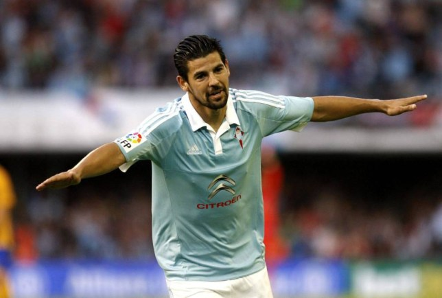 epa04945518 Celta Vigo's striker Manuel Agudo 'Nolito' jubilates after scoring a goal during the Spanish Primera Division soccer match between Celta Vigo and FC Barcelona played at Balaidos stadium in Vigo, Galicia, Spain on 23 September 2015. EPA/SALVADOR SAS