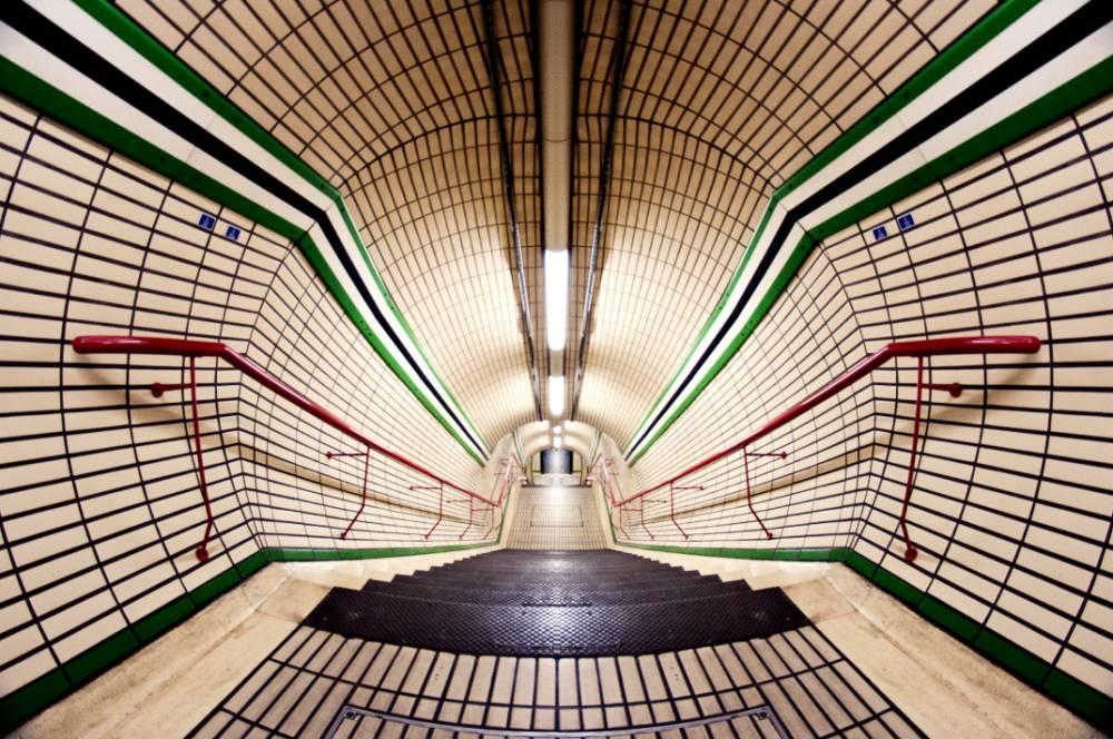 Inside Tottenham Court Road station
