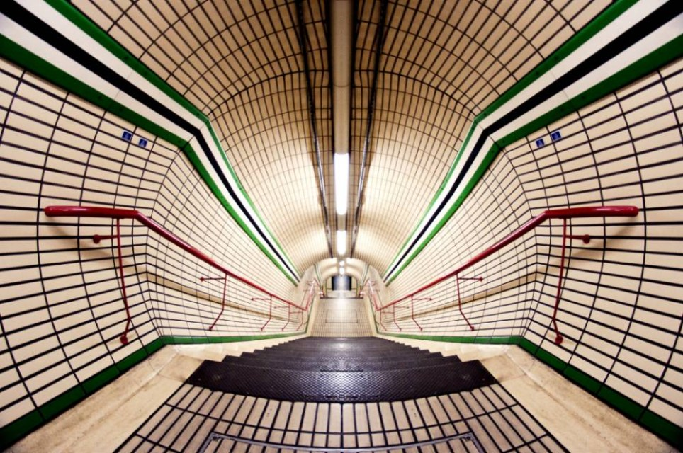 Inside Tottenham Court Road station