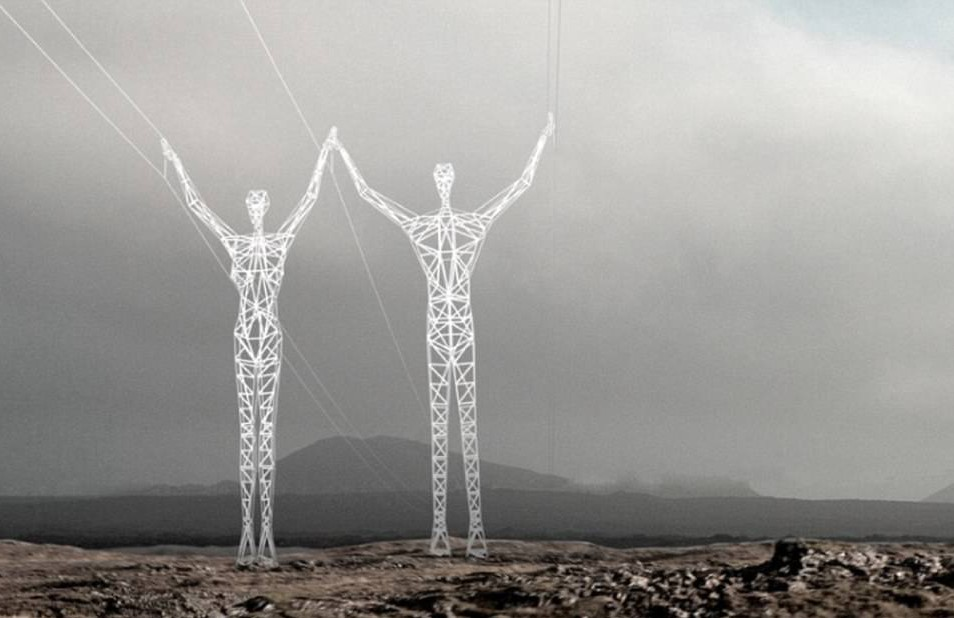 These giant pylons put ours to shame