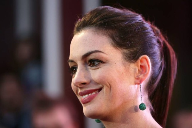 Anne Hathaway attending the Intern European Premiere at Vue in Leicester Square, London. PRESS ASSOCIATION Photo. Picture date: Sunday September 27, 2015. See PA story SHOWBIZ Intern. Photo credit should read: Yui Mok/PA Wire