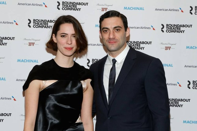 """NEW YORK, NY - JANUARY 16: Rebecca Hall and Morgan Spector attend the Broadway opening night of """"Machinal"""" at American Airlines Theatre on January 16, 2014 in New York, New York. (Photo by John Lamparski/WireImage)"""