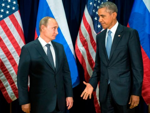 This picture of Barack Obama and Vladimir Putin speaks a thousand words