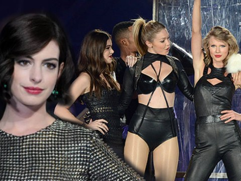 Anne Hathaway totally wants to be in Taylor Swift's squad