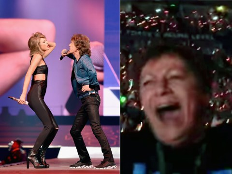 This grandma completely lost it when Taylor Swift brought Mick Jagger out on stage