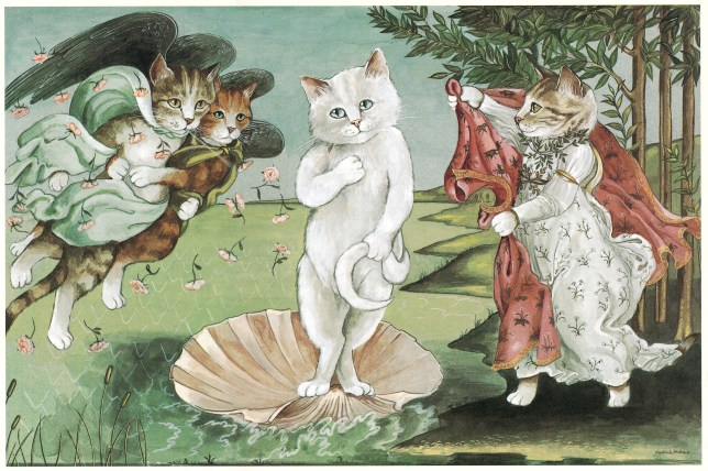 cats galore book puts cats in famous works of art