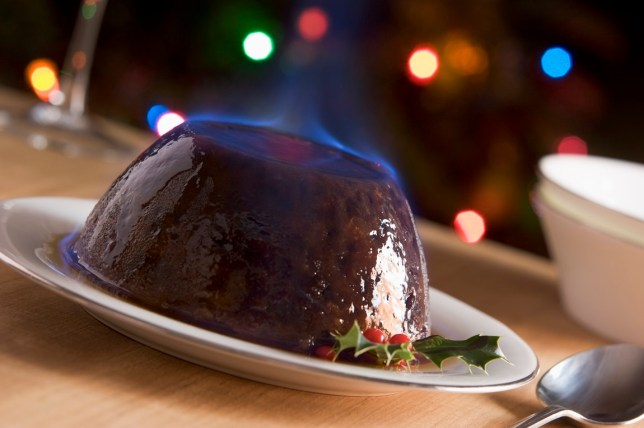 Christmas Pudding On Fire.Firefighters Called To Put Out Burning Christmas Pudding In