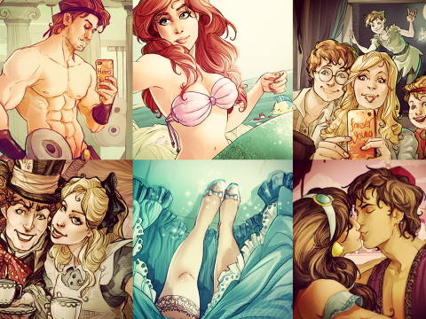 Artist imagines what Disney characters would be like on Instagram
