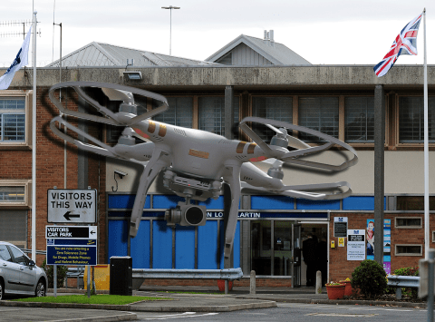 Drones used by gangs to fly illegal drugs into prisons