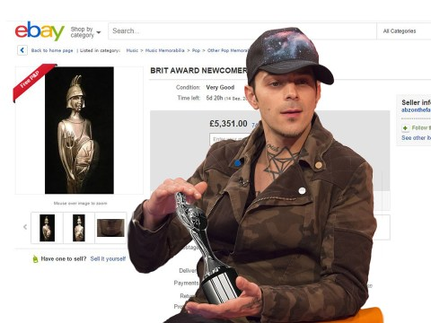 Abz from Five is selling his Brit Award so he can buy garden tools
