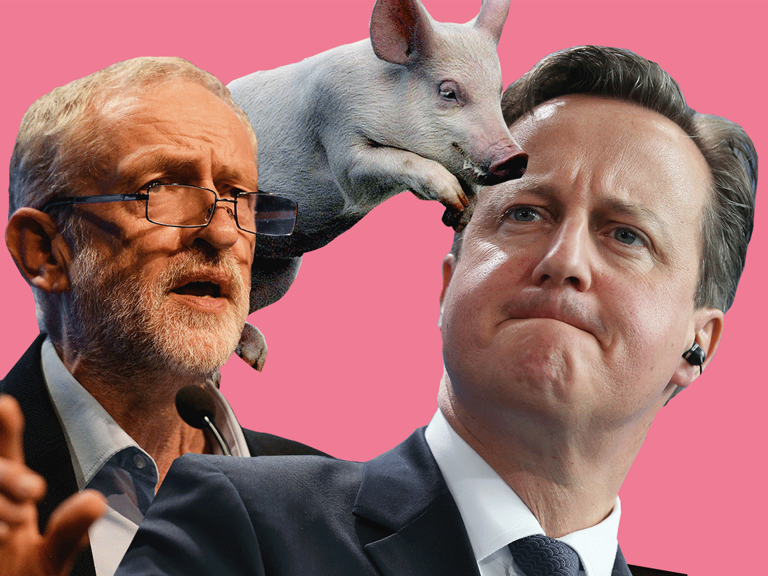 Here are seven ways Corbyn can get his pig digs into PMQs