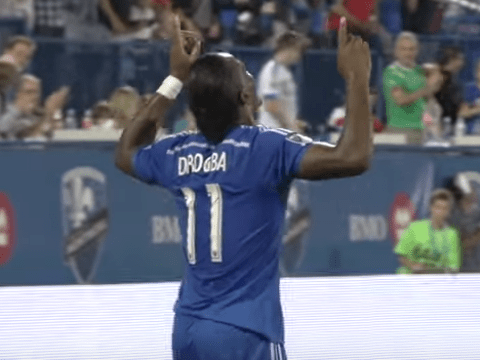 Watch: Chelsea legend Didier Drogba scores a hat-trick and breaks an MLS record in his first Montreal Impact start