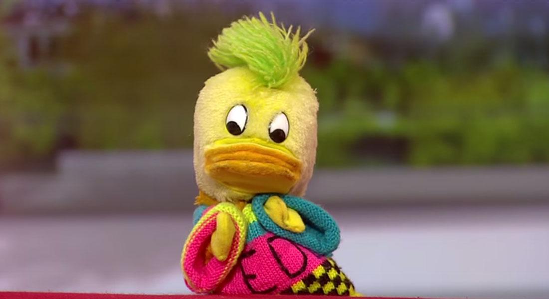 Edd The Duck on BBC Breakfast