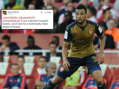 Arsenal fan claims Francis Coquelin is technically miles better than Manchester United legend Roy Keane