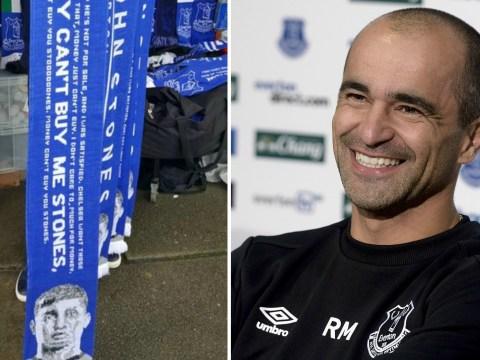 Everton fans risk trolling after making scarves celebrating John Stones' failed Chelsea transfer