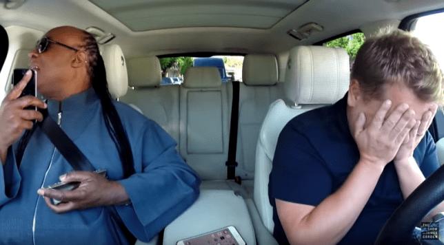 James Corden Carpool Karaoke Stevie Wonder--