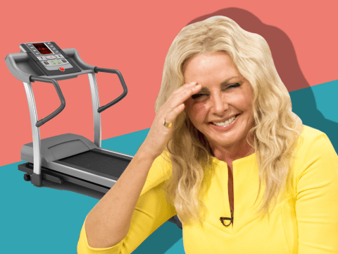 So THIS is why Carol Vorderman was naked when she fell off her treadmill