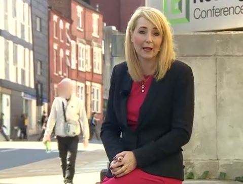 Sarah Teale suffered verbal abuse while reporting on the streets of Nottingham (Picture: BBC Nottingham/Facebook)