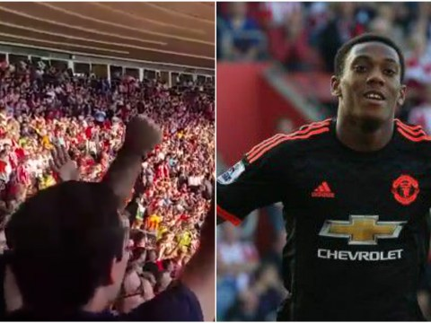 Manchester United fans sing What a Waste of Money after Anthony Martial double v Southampton