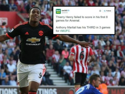 Stats show Manchester United's Anthony Martial could be even better than Arsenal icon Thierry Henry