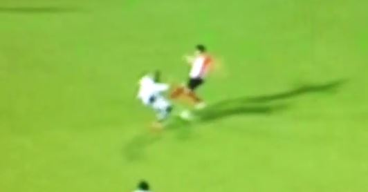 PSV's Hector Moreno sends another player off on stretcher just days after tackle on Manchester United's Luke Shaw