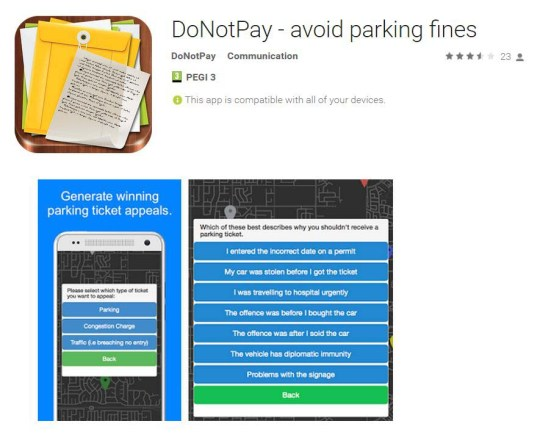 This app lets you challenge parking fines in under a minute