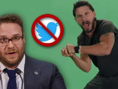 Seth Rogen is pretty upset Shia LaBeouf has blocked him on Twitter