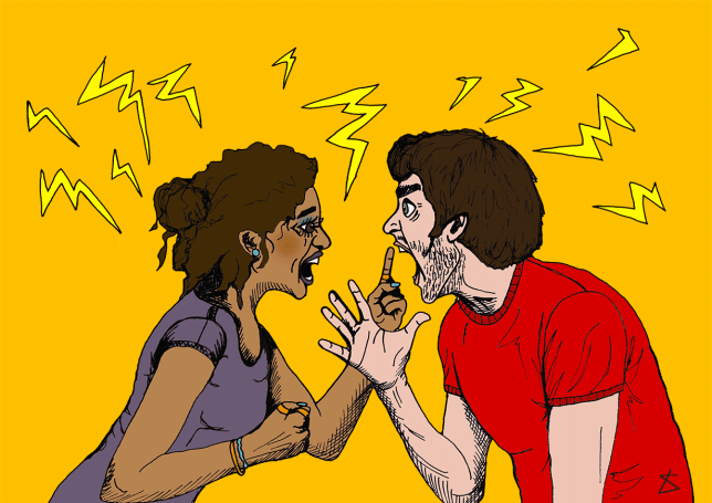 AngryCoupleDiagramMan_Illustration_LibertyAntoniaSadler_Metro this is what happens to your body when you fight your partner