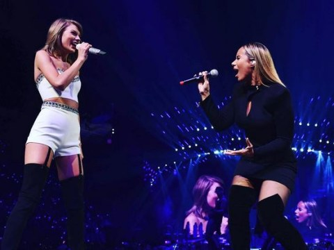 Taylor Swift and Leona Lewis belting out Bleeding Love is bleeding brilliant