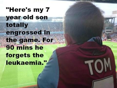 This seven-year-old Aston Villa fan with leukaemia will restore your faith in football