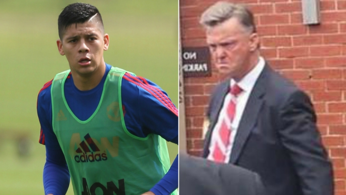 Manchester United star Marcos Rojo says he's scared of Louis van Gaal's bulldog face