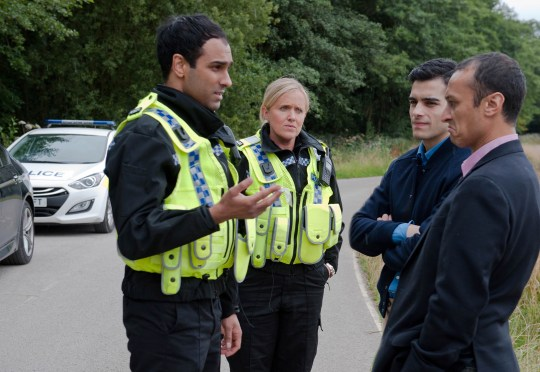 FROM ITV STRICT EMBARGO - No Use Before Tuesday 6 October 2015 Emmerdale - Ep 7317 Tuesday 13th October 2015 Kirin Kotecha [ADAM FIELDING] is relieved when a dishevelled Jai Sharma [CHRIS BISSON] turns up to work and tells Kirin he got a caution for substance abuse. In the Woolpack, Priya sees her coked up brother leaving the pub and getting into his car and she stuns Rishi by ringing the police to report Jai. Soon the police pull the car over and Jai is alarmed as he has a bag of coke on him. He offers Kirin money to take the fall for him, but will Kirin put himself on the line for Jai? Picture contact: david.crook@itv.com on 0161 952 6214 Photographer - Amy Brammall This photograph is (C) ITV Plc and can only be reproduced for editorial purposes directly in connection with the programme or event mentioned above, or ITV plc. Once made available by ITV plc Picture Desk, this photograph can be reproduced once only up until the transmission [TX] date and no reproduction fee will be charged. Any subsequent usage may incur a fee. This photograph must not be manipulated [excluding basic cropping] in a manner which alters the visual appearance of the person photographed deemed detrimental or inappropriate by ITV plc Picture Desk. This photograph must not be syndicated to any other company, publication or website, or permanently archived, without the express written permission of ITV Plc Picture Desk. Full Terms and conditions are available on the website www.itvpictures.com