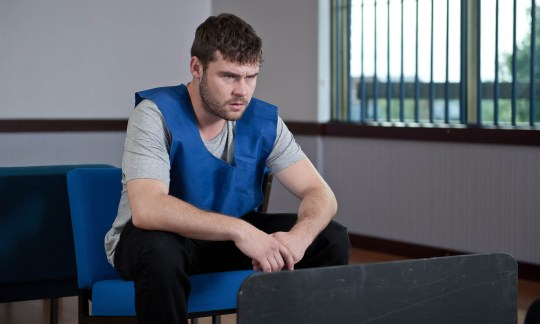 FROM ITV STRICT EMBARGO - No Use Before Tuesday 6 October 2015 Emmerdale - Ep 7321 Friday 16th October 2015 Chas Dingle [LUCY PARGETTER] visits Aaron Livesy [DANNY MILLER] in the remand centre as he explains what happened on the night of the shooting. Picture contact: david.crook@itv.com on 0161 952 6214 Photographer - Amy Brammall This photograph is (C) ITV Plc and can only be reproduced for editorial purposes directly in connection with the programme or event mentioned above, or ITV plc. Once made available by ITV plc Picture Desk, this photograph can be reproduced once only up until the transmission [TX] date and no reproduction fee will be charged. Any subsequent usage may incur a fee. This photograph must not be manipulated [excluding basic cropping] in a manner which alters the visual appearance of the person photographed deemed detrimental or inappropriate by ITV plc Picture Desk. This photograph must not be syndicated to any other company, publication or website, or permanently archived, without the express written permission of ITV Plc Picture Desk. Full Terms and conditions are available on the website www.itvpictures.com