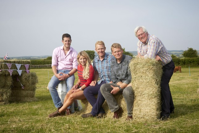 Programme Name: Countryfile - TX: n/a - Episode: n/a (No. n/a) - Picture Shows: (L-R) Matt Baker, Ellie Harrison, Adam Henson, Tom Heap, John Craven - (C) BBC - Photographer: Oliver Edwards