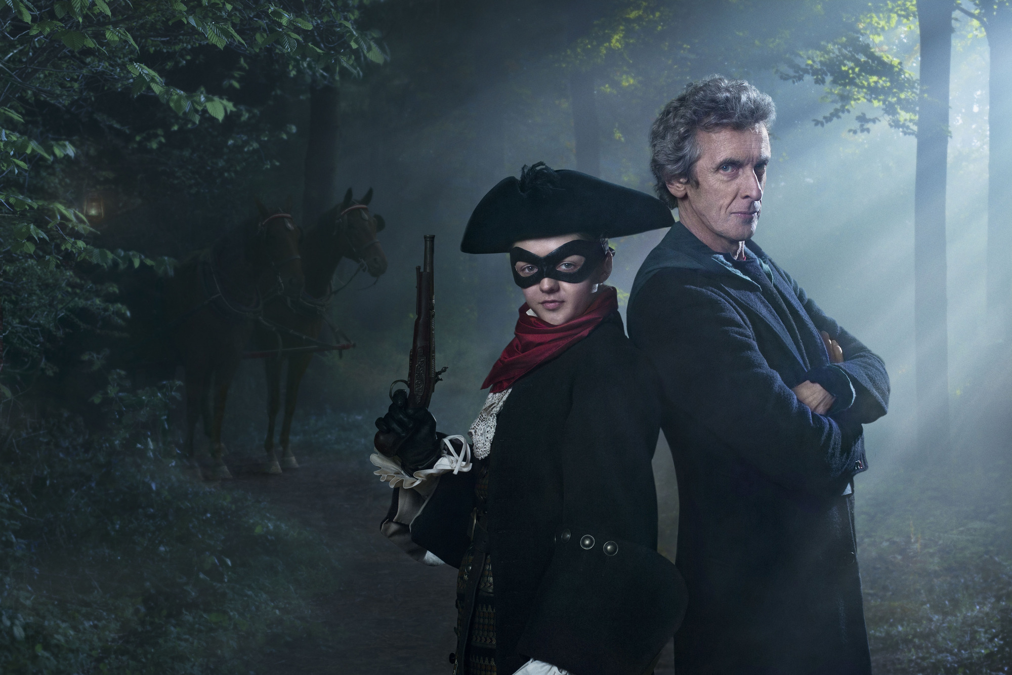Doctor Who, series 9, The Woman Who Lived, starring Maisie Williams and Peter Capaldi