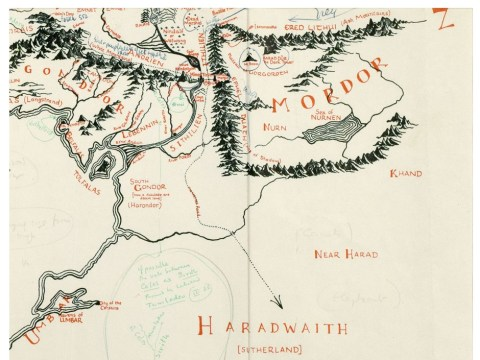 Annotated map of J.R.R Tolkien's Middle-earth has been discovered inside old copy of Lord Of The Rings