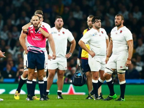 England become the first hosts ever not to reach Rugby World Cup knockout stages after defeat to Australia