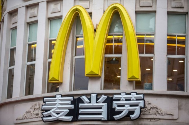 QUANZHOU, FUJIAN PROVINCE, CHINA - 2015/05/19: Huge logo of a McDonalds restaurant. McDonalds is to begin piloting a mobile ordering and payment service in China in the third quarter of this year, with the aim of speeding payments and to meet consumer demand. (Photo by Zhang Peng/LightRocket via Getty Images)