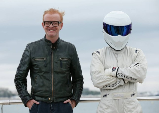 Chris Evans, the new presenter of BBCís Top Gear programme, and The Stig during a photocall on the Boulevard de la Croisette for the annual television industry trade show MIPCOM in Cannes, France. PRESS ASSOCIATION Photo. Picture date: Tuesday October 6, 2015. During an interview with the Press Association Evans hinted that there may not be co-hosts with him at all times throughout the new show. Photo credit should read: Yui Mok/PA Wire